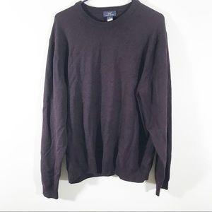 Brooks Brothers men's merino wool blend sweater XL